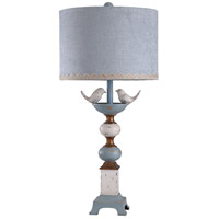 StyleCraft Home Collection L315980DS Signature 34 inch 150 watt White and Blue Table Lamp Portable Light