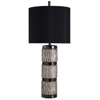 StyleCraft Home Collection L316032DS Signature 36 inch 150 watt Black and Silver Table Lamp Portable Light