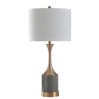 StyleCraft Home Collection L316142DS Signature 32 inch 150 watt Copper and Grey Table Lamp Portable Light