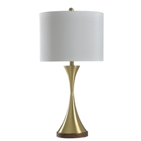 StyleCraft Home Collection L316152DS Signature 30 inch 150 watt Brushed Brass Table Lamp Portable Light