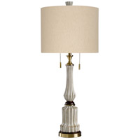 StyleCraft Home Collection L316249DS Signature 38 inch 60 watt Sauga Cream Table Lamp Portable Light