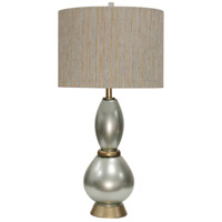 StyleCraft Home Collection L316283DS Signature 34 inch 150 watt Nabanil Gold and Silver Table Lamp Portable Light