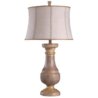 StyleCraft Home Collection L316288DS Signature 34 inch 150 watt Light Brown and Beige Table Lamp Portable Light