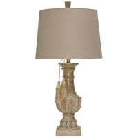 StyleCraft Home Collection L316290DS Signature 34 inch 150 watt Beige and White Table Lamp Portable Light