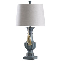 StyleCraft Home Collection L316291DS Signature 34 inch 150 watt Grey and White Table Lamp Portable Light