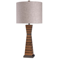 StyleCraft Home Collection L316347DS Signature 35 inch 150 watt Brown and White Table Lamp Portable Light