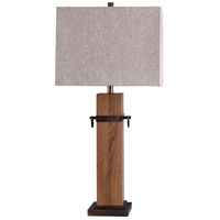 StyleCraft Home Collection L316350DS Signature 34 inch 100 watt Brown and White Table Lamp Portable Light