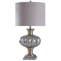StyleCraft Home Collection L316374DS Signature 36 inch 150 watt Gold and Silver with White Table Lamp Portable Light