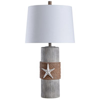 StyleCraft Home Collection L316382DS Signature 33 inch 150 watt Grey and Brown with White Table Lamp Portable Light