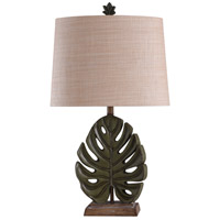 StyleCraft Home Collection L316401DS Signature 32 inch 100 watt Green and Brown with Beige Table Lamp Portable Light