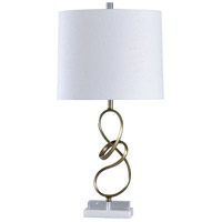 StyleCraft Home Collection L316409DS Signature 31 inch 100 watt Gold and White Table Lamp Portable Light
