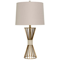 StyleCraft Home Collection L316418DS Signature 34 inch 150 watt Antique Brass and Beige Table Lamp Portable Light