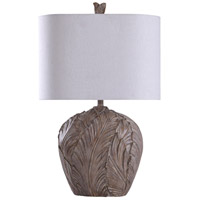 StyleCraft Home Collection L316421DS Signature 32 inch 150 watt Grey and White Table Lamp Portable Light