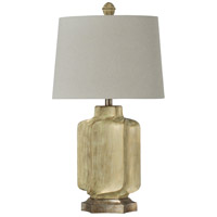 StyleCraft Home Collection L316424DS Signature 30 inch 100 watt Gold and White Table Lamp Portable Light