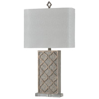 StyleCraft Home Collection L316425DS Signature 31 inch 100 watt Grey and White Table Lamp Portable Light