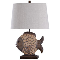 StyleCraft Home Collection L316436DS Signature 30 inch 100 watt Brown and White Table Lamp Portable Light