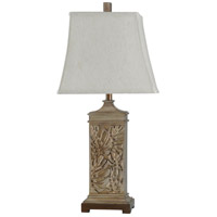 StyleCraft Home Collection L316440DS Signature 31 inch 60 watt Brown and Off White Table Lamp Portable Light