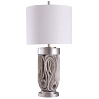 StyleCraft Home Collection L316453DS Signature 35 inch 150 watt Grey and Silver with White Table Lamp Portable Light