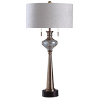 Clear and Gold Metal Table Lamps