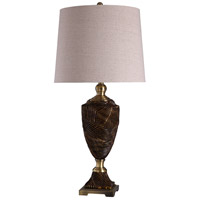 StyleCraft Home Collection L316497DS Signature 37 inch 150 watt Bronze and Gold with Beige Table Lamp Portable Light
