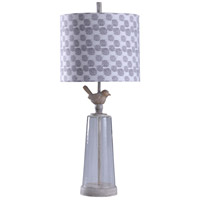 StyleCraft Home Collection L316500DS Signature 33 inch 150 watt Cream and Seeded Glass Table Lamp Portable Light