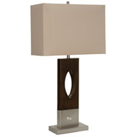 StyleCraft Home Collection L316571DS Signature 32 inch 100 watt Brown and Silver with Beige Table Lamp Portable Light