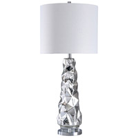 StyleCraft Home Collection L316596DS Signature 38 inch 150 watt Silver Mercury and Clear with White Table Lamp Portable Light