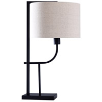 StyleCraft Home Collection L316609DS Signature 26 inch 60 watt Black and Off White Table Lamp Portable Light