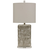 StyleCraft Home Collection L316682DS Signature 31 inch 100 watt Silver and Off White Table Lamp Portable Light