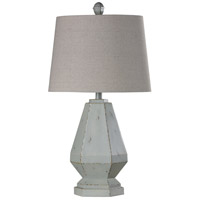 StyleCraft Home Collection L316842DS Signature 30 inch 100 watt Weathered White and Off White Table Lamp Portable Light