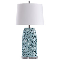 Signature 33 inch 100 watt Blue and White Table Lamp Portable Light