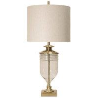 StyleCraft Home Collection L316859DS Signature 40 inch 150 watt Gold and Clear with Cream Table Lamp Portable Light