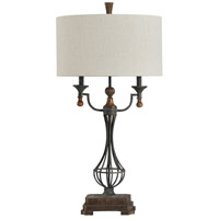StyleCraft Home Collection L316867DS Signature 35 inch 40 watt Bronze and Cream Table Lamp Portable Light