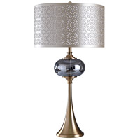 StyleCraft Home Collection L316869DS Signature 38 inch 150 watt Silver Table Lamp Portable Light photo thumbnail