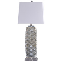 StyleCraft Home Collection L316879DS Signature 37 inch 100 watt Grey and White Table Lamp Portable Light