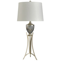 StyleCraft Home Collection L316882DS Signature 35 inch 150 watt Silver and White Table Lamp Portable Light