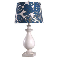 Signature 32 inch 150 watt White and Blue Table Lamp Portable Light