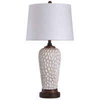 StyleCraft Home Collection L316895DS Signature 33 inch 150 watt White and Brown Table Lamp Portable Light