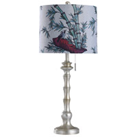 StyleCraft Home Collection L316936DS Imperial Silver 31 inch 100 watt Imperial Silver Table Lamp Portable Light