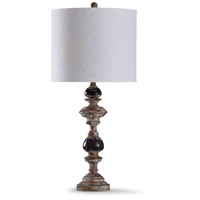 StyleCraft Home Collection L317041DS Bishop 13 inch 150 watt Weathered Natural and Cream Table Lamp Portable Light
