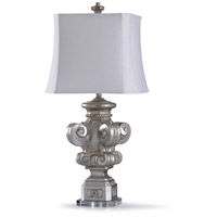 StyleCraft Home Collection L317232DS Vedal 13 inch 150 watt Silver and Acrylic Table Lamp Portable Light