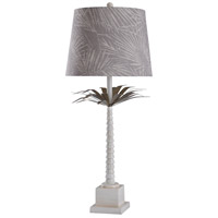 StyleCraft Home Collection L317272DS Augustine 40 inch 100 watt White and Bronze Table Lamp Portable Light