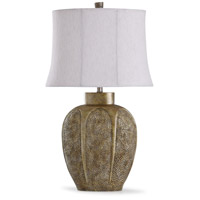 StyleCraft Home Collection L317403DS Chateau 13 inch 60 watt Gold and Oatmeal Table Lamp Portable Light