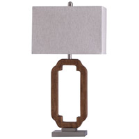 StyleCraft Home Collection L317447DS Hansen 11 inch 100 watt Wood and Steel Table Lamp Portable Light