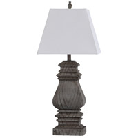 StyleCraft Home Collection L317467DS Askern 33 inch 100 watt Gray Table Lamp Portable Light