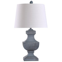 StyleCraft Home Collection L317571DS Askern 12 inch 100 watt Blue-gray and Off White Table Lamp Portable Light