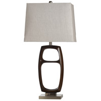 StyleCraft Home Collection L317578DS Wood Bridge Silver 33 inch 60 watt Dark Brown and Silver Table Lamp Portable Light