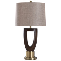 StyleCraft Home Collection L317580DS Cheshire 33 inch 100 watt Brass and Dark Brown Table Lamp Portable Light
