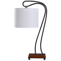 StyleCraft Home Collection L317687DS Dalton 27 inch 60 watt Weathered Black and Brown Table Lamp Portable Light