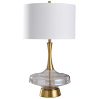 StyleCraft Home Collection L317831DS Chatham 32 inch 150 watt Smoke and Gold Table Lamp Portable Light